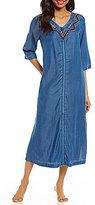 Kate Landry Casuals Denim Zip Patio Dress