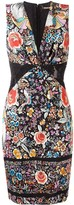 Roberto Cavalli floral print fitted dress