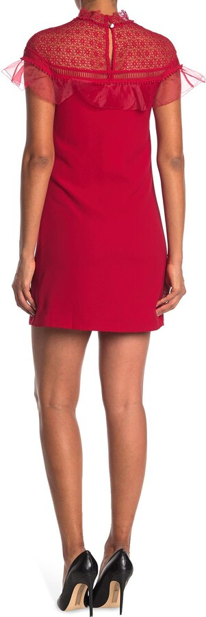 Thumbnail for your product : Ted Baker Carsey Crocheted Lace Yoke Shift Dress