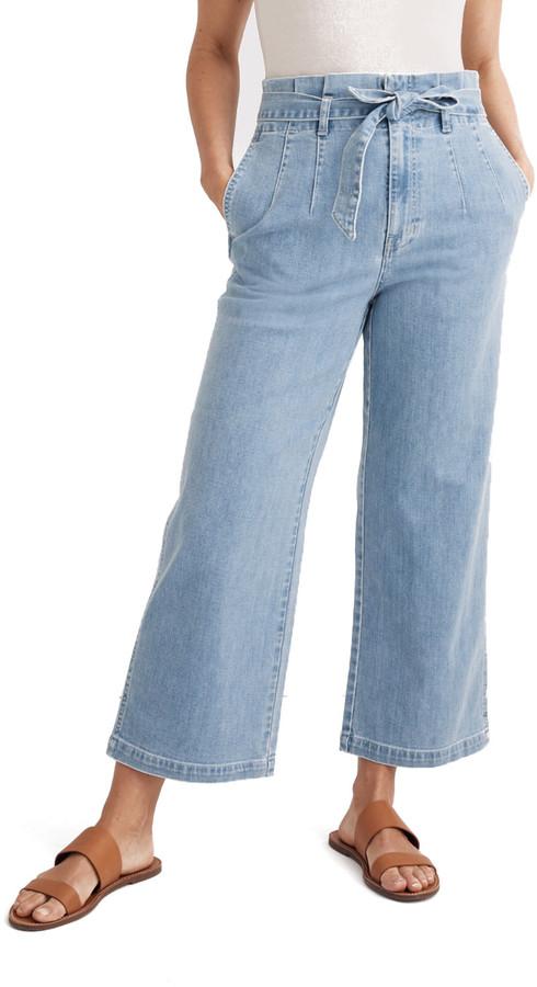 Madewell Denim Paperbag Pants
