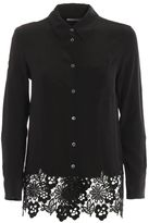 Equipment Washed Silk Reese Shirt With Lace