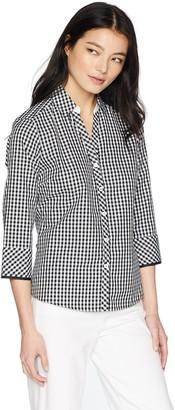 Foxcroft Women's Petite Mary Gingham Non Iron Shirt