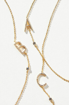 Anthropologie Delicate Monogram Necklace By in Size ALL