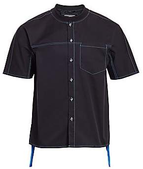 Madison Supply Men's Baseball Collar Short-Sleeve Shirt