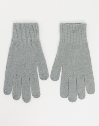 Pieces touch screen gloves in grey