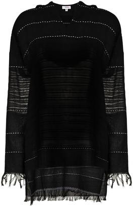 Lemlem Tikuri hoodie fringe mini dress