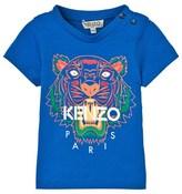 Kenzo Blue Tiger Print Tee