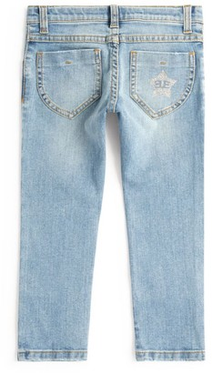 Ermanno Scervino Glitter Star Light-Wash Jeans