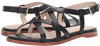 Cole Haan Analeigh Grand Strappy Sandal (Black Leather) Women's Shoes