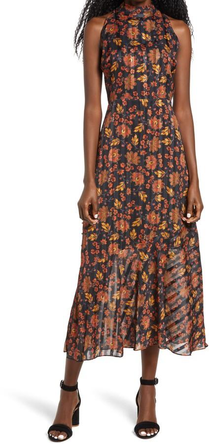 Sam Edelman Floral Halter Neck Dress