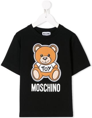 MOSCHINO BAMBINO bear logo print T-shirt