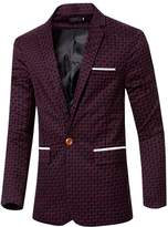Partiss Men's Fashion Wedding Blazer Coat Long Sleeve Classic Jacket
