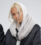 Shikumi Oversized Knitted Infinity scarf with Buckle Strap