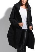 Everest Black Wool-Blend Coat