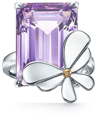 Tiffany & Co. Return to TiffanyTM Love Bugs amethyst butterfly ring in silver and rose gold