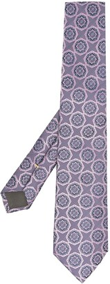 Canali Micro Motif Silk Tie