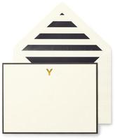 Kate Spade Monogram Y Correspondence Cards - Set of 10