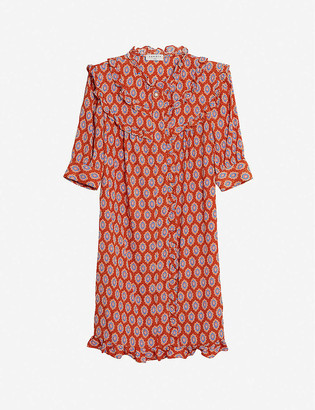 Sandro Rochel graphic-print crepe mini dress