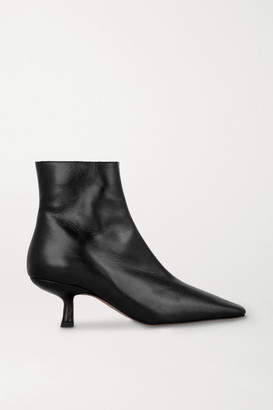 BY FAR Lange Leather Ankle Boots - Black