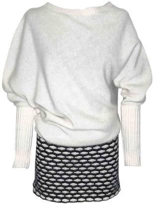 Jay Ahr White Wool Dress for Women