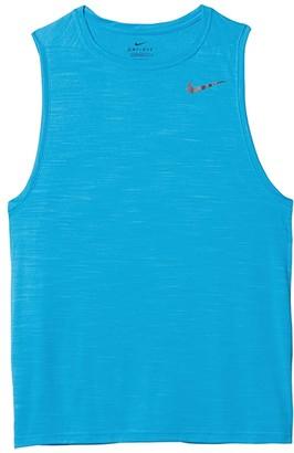 Nike Superset Top Tank (Laser Blue/Black) Men's Sleeveless