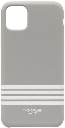 Thom Browne 4-Bar print iPhone 11 Pro Max case