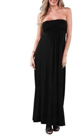 24/7 Comfort Apparel Women's Strapless Maxi Dress