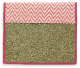 Handcrafted Natural Fibers Journal Cover, 'Mexican Pink'