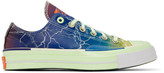 Converse Blue and Green Chuck 70 Pigalle Sneakers