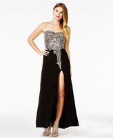 Crystal Doll Juniors' Embellished Strapless Gown, A Macy's Exclusive Style