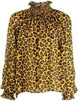 MSGM leopard print blouse