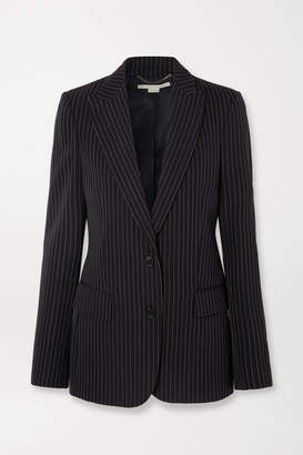 Stella McCartney Pinstriped Wool-twill Blazer - Midnight blue