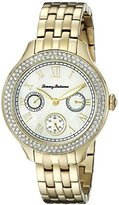 Tommy Bahama Women's 10018332 Waikiki Dream Multifunction Gold-Tone Stainless Steel Watch with Crystals