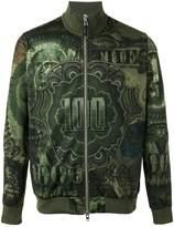 Givenchy dollar print bomber jacket
