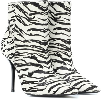 Saint Laurent Printed leather ankle boots
