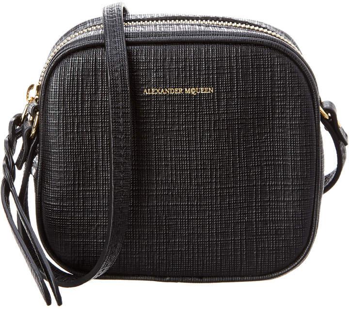 Alexander McQueen Lino Mini Embossed Leather Camera Bag
