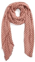 BP Women's Woven Check Square Scarf