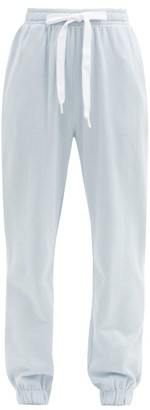 The Upside Loire Captain Cotton-jersey Track Pants - Light Blue
