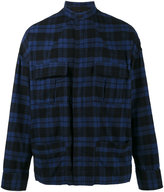 Haider Ackermann Black and Blue Turner Military Shirt