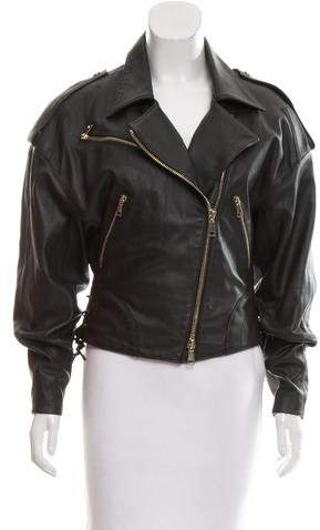 Amen Leather Moto Jacket