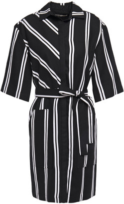 Maje Striped Twill Mini Shirt Dress