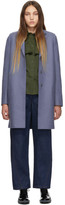 Harris Wharf London Blue Wool Cocoon Coat