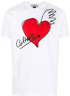 Vivienne Westwood heart-print cotton T-shirt