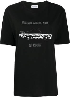 Saint Laurent Where Were You at Night T-shirt