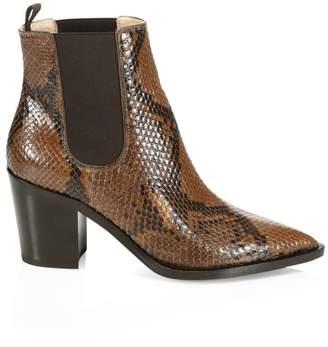 Gianvito Rossi Romney Point-Toe Python Chelsea Boots