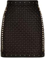 Balmain Studded Leather Mini Skirt