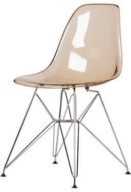 Wrought Studio Stirling Metal Side Chair in Amber Translucent Color: Amber Translucent
