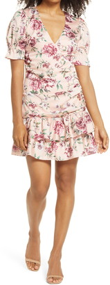 Bellevue The Label Harmony Floral Faux Wrap Minidress