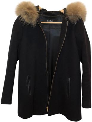 Mila Louise Navy Wool Coats