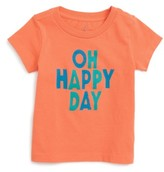 Infant Boy's Peek Oh Happy Day Graphic T-Shirt
